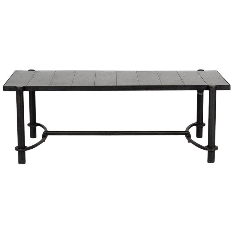 Jacques Adnet for Compagnie Des Arts Francais, Coffee Table, France, circa 1958 For Sale