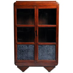 British Colonial Art Deco Display Cabinet