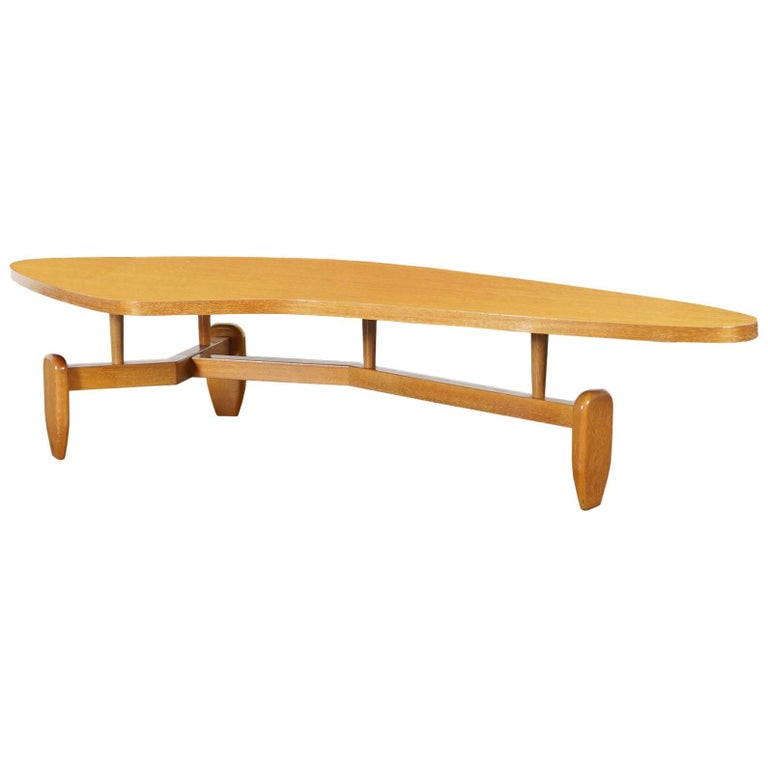 """Vintage """"Outrigger"""" Floating Top Coffee Table by John Keal"""