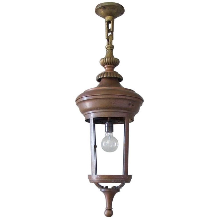Early 20th Century Cylindrical Lantern