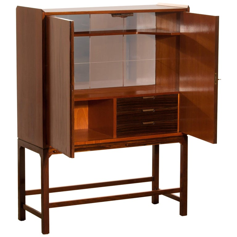 Dry Bar / Cocktail Cabinet in Mahogany and Rosewood 1960s Made in Denmark