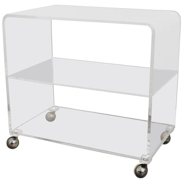 Mid-Century Modern Lucite Bar Cart