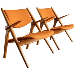 Hans Wegner Sawbuck Lounge Chairs