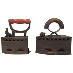 Two 19th Century Cast Iron Coal Irons