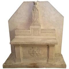 Francois D'Albignac Plaster Model of an Altar, circa 1940