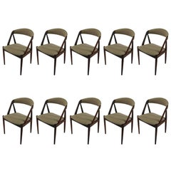 1960s Kai Kristiansen Set of Ten Model 31 Dining Chairs in Teak