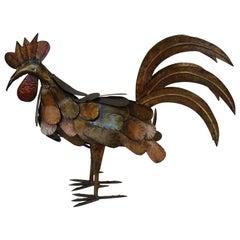 Spanish Handmade Iron Rooster Sculpture