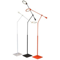 Light & Contrast, Trapeze LED Floor Lamp, Charcoal