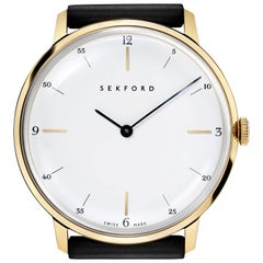 Sekford, Type 1A, Gold Case, White Dial