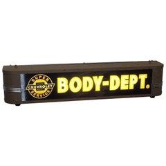1940s Chevrolet Super Service Body Dept. Dealership Light Up Sign