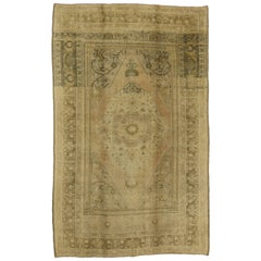 Vintage Turkish Oushak Rug with Traditional Style, Warm Neutral Colors