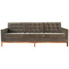 1970s Florence Knoll Sofa on a Rosewood Base