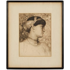 "Thomas Riley ""Roxanne"" Signed Etching"