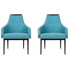 Kipp Stewart for Calvin Furniture Armchairs, Pair, circa 1960, Reupholstered