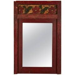 Folk Art Painted Mirror