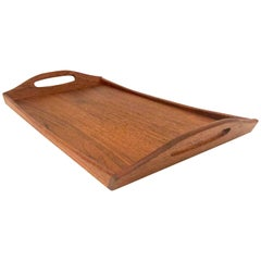 Danish Modern Solid Teak Serving Tray by ESA, Denmark