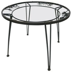 "Outdoor Round ""Pinecrest"" Dining Table by Russell Woodard, USA, circa 1950"