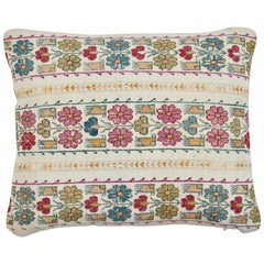 Greek Island Embroidery and Petit Point Pillow
