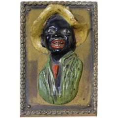 19th Century Black Americana Cold Painted Metal Doorstop