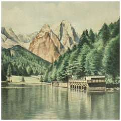 Oil Painting of Rissersee by Karl Walther