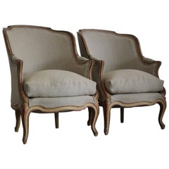 Pair of 1920s French Painted Armchairs