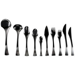 Danish Stainless Steel Flatware Dinner Set of 87 Pieces, 1960s