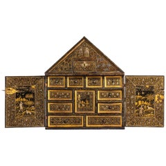 Extremely Rare Museum Quality English Table Cabinet, circa 1620