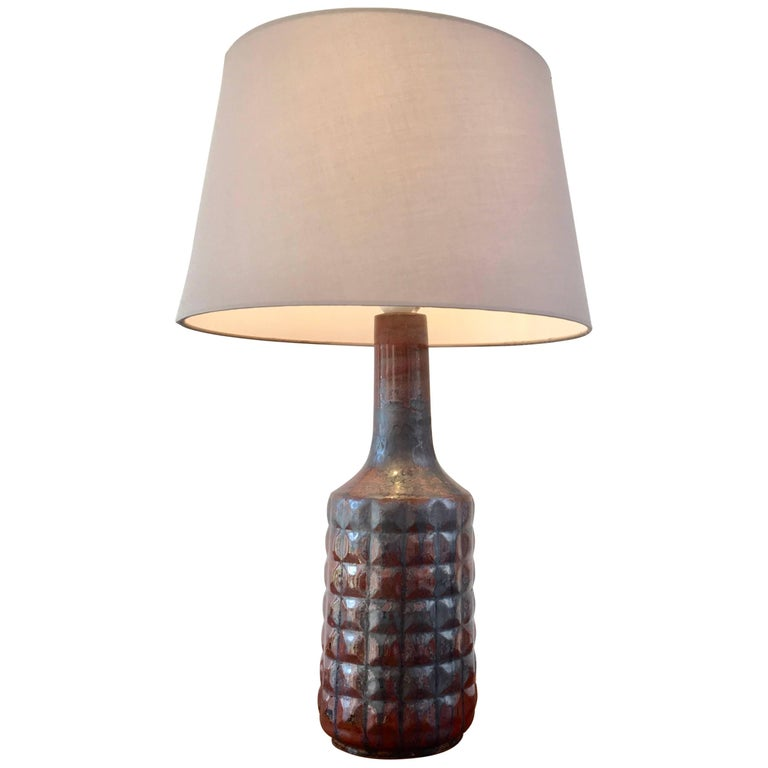 Vintage Danish Ceramic Table Lamp by Desiree Stentoj For Sale
