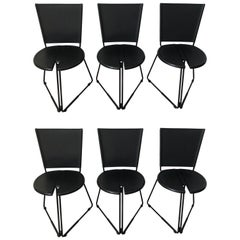 Set of Six Chairs by the Italian Gaspare Cairoli for Seccose, 1985