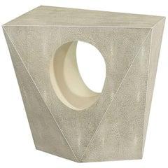 Veneered Faux Geometric Side Table