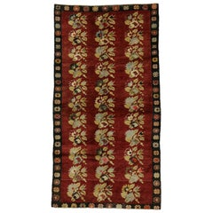 Vintage Turkish Oushak Gallery Rug with Traditional Style, Wide Hallway Runner