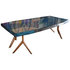 Large Parchment Dining Conference Table