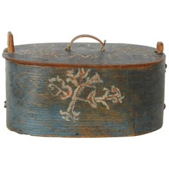 Allmoge Box, Inscribed and Dated 1799, Origin Sweden