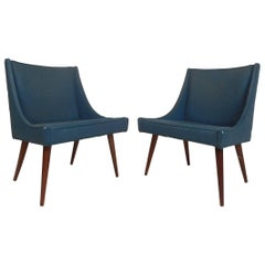 Pair of Mid-Century Modern Side Chairs by Milo Baughman for Thayer Coggin
