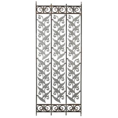 Iron Architectural Panels with Botanical Motif