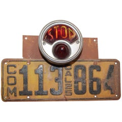 Vintage California 1925 Commercial Single License Plate