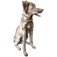 Antique Clay Figure of Dog Found in Southern México, circa 1900