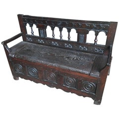 19th Century French Storage Bench