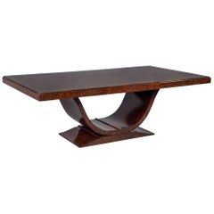 Burled Walnut Art Deco Inspired Dining Table by Aerin Lauder