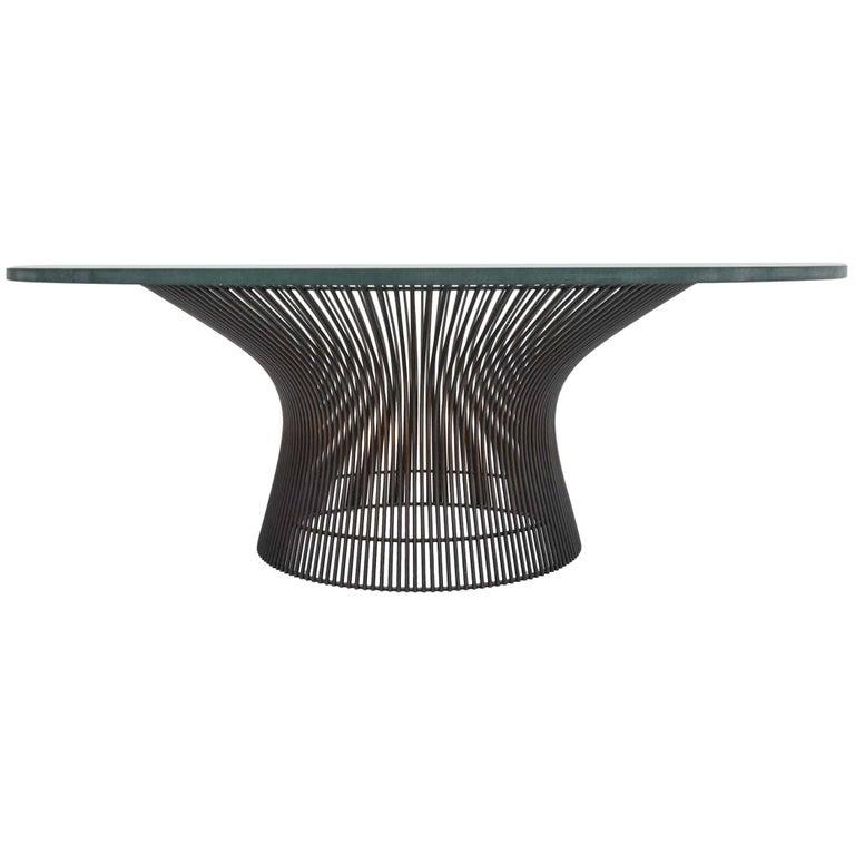 Warren Platner Bronze Coffee Table