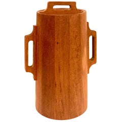 Solid Teak Rare Ice Bucket Designed by Quistgaard for Dansk