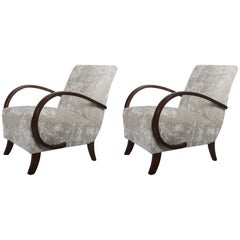 Pair of Jindrich Halabala Art Deco Armchairs