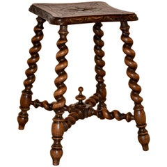 19th Century Carved Stool