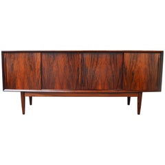 Arne Vodder Rosewood Buffet with Teak Interior and Finger Jointed Drawers