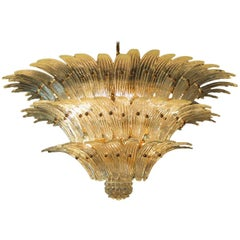 Palmette Chandelier Barovier & Toso Style, Murano