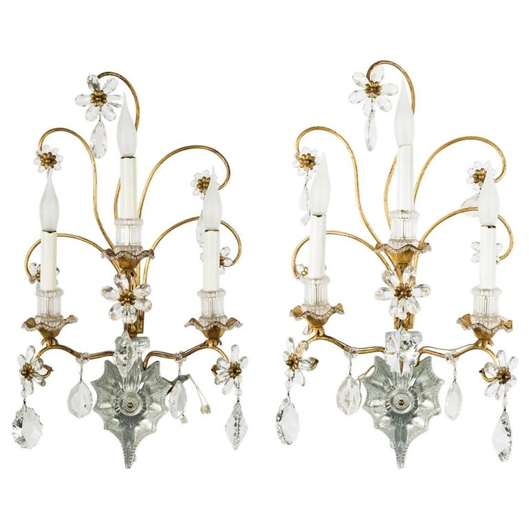 Very Rare and Exclusive Pair of Unusual Maison Baguès Appliques