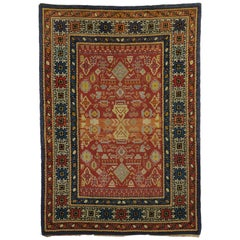 Vintage Spanish Area Rug with Modern Tribal Style