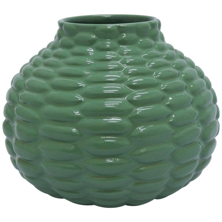 Axel Salto Green Budded Vase from Ipsens Enke, Denmark, 1930s