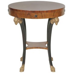 Round Hollywood Regency Neoclassical Round Table