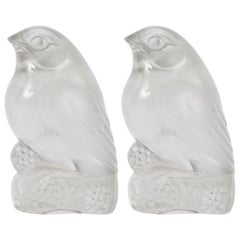 Rene Lalique, a Pair of Decoration Birds 'Bellecour'